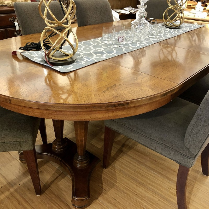 Table Dining 2 Leaves, Wood, Size: 48x48x30<br /> Chairs sold separately: Set of 6 #80589,$312