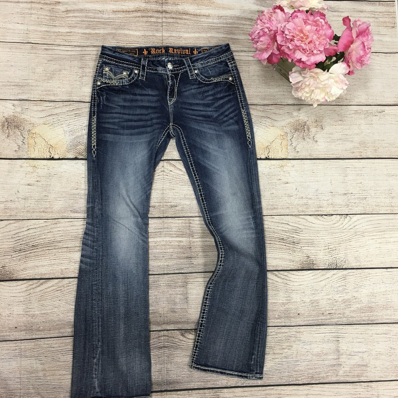 Rock Revival Jeans, Denim, Size: 6/28