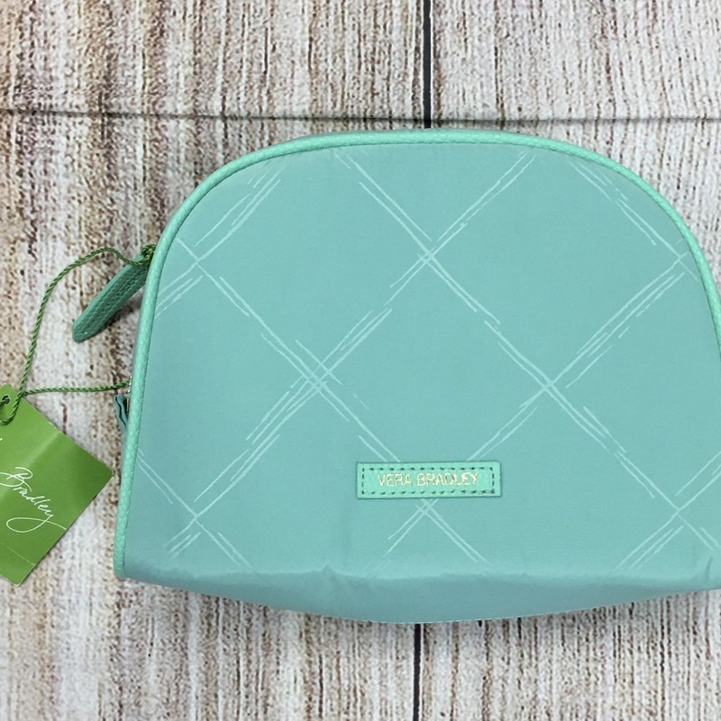 New Vera Bradley mint green cosmetic bag original retail price was $44.00 See the matching tote bag! Please note there are a few minor spots on the back.
