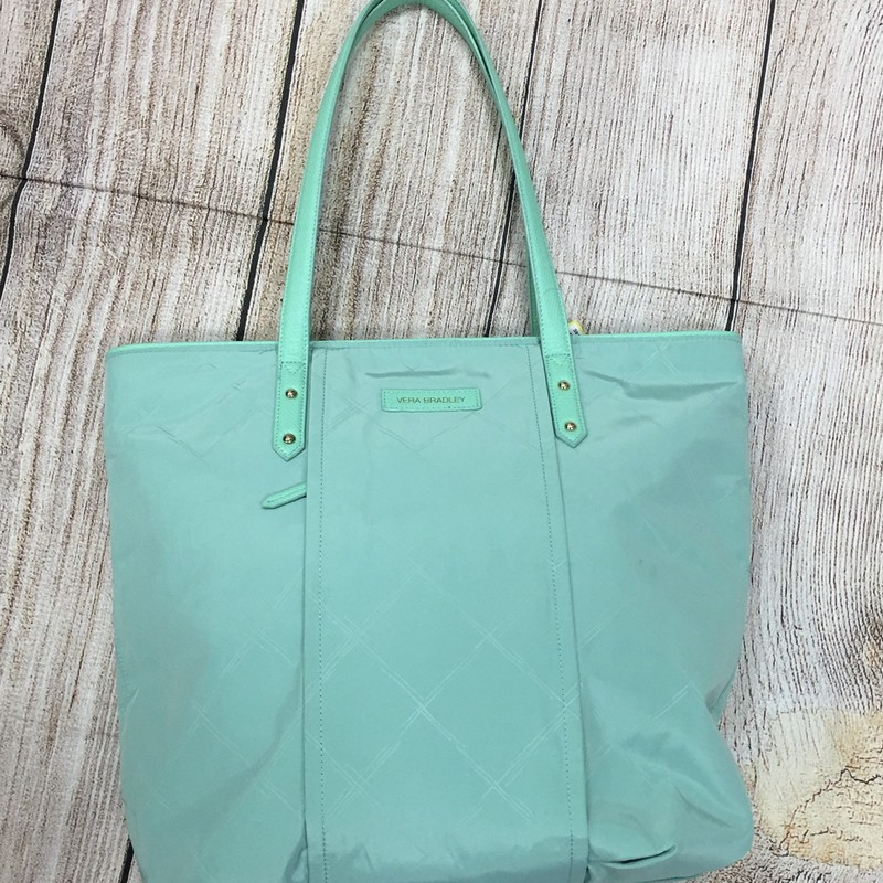 New Vera Bradley Purse, mint green tote  original retail price was $108.00 See the matching cosmetic bag!
