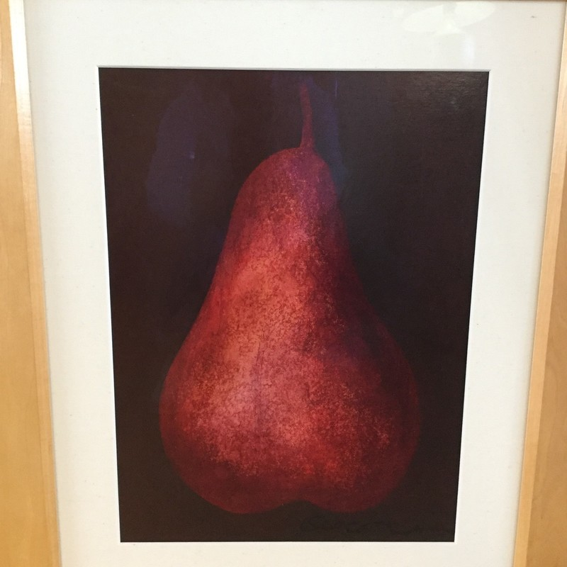 "Red Pear Fine Art, Red, Size: 25""X21"""