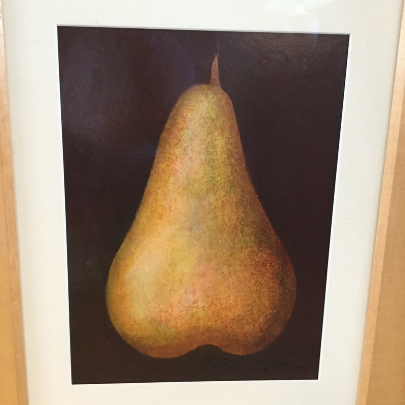 "Yellow Pear Fine Art, Yelllow, Size: 25""X20"""
