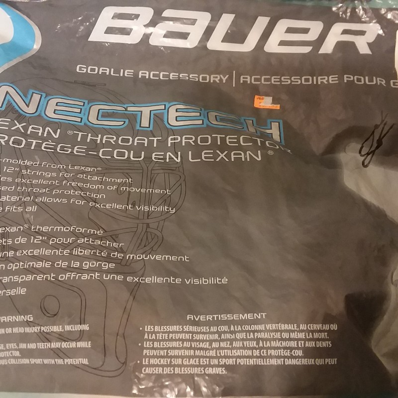 Bauer Throat Protector, Hockey, Size: Sr.