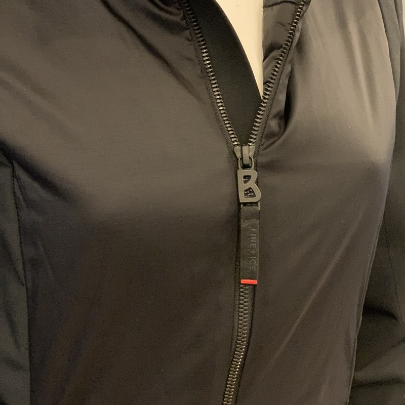 Bogner Fire + Ice Jacket, Black, Size: XSmall<br /> new with tags<br /> retail cost $350.00<br /> oberstoff shell<br /> 92% polyester<br /> 8% elastane<br /> Filling : 100% polyester
