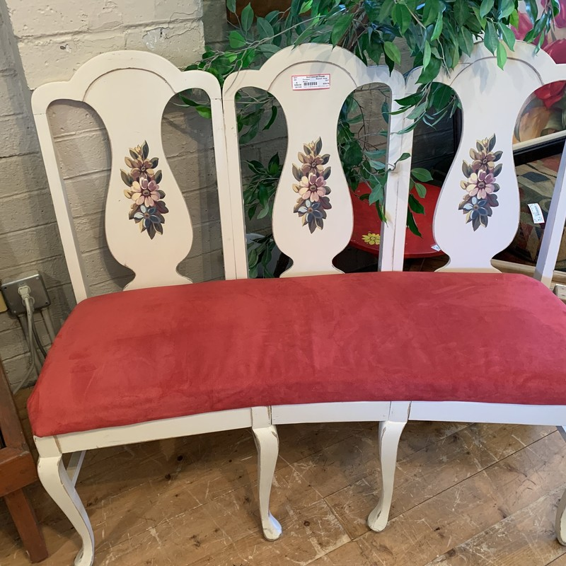 Bench, Red/wht, Size: None