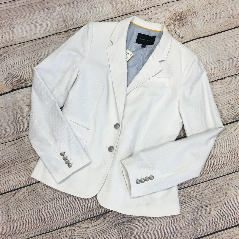 Banana Republic Blazer, White, Size: Large (12)