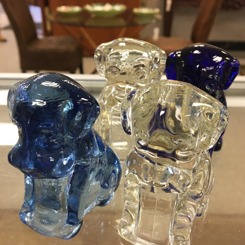 Various Dagenhart Dogs, Blue/Wht, Size: 3 Inch