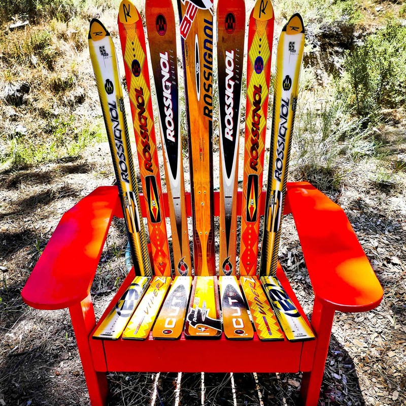 If you like Rossignol skis, here's your chance to own this awesome, custom ski chair - made by local artist! Perfect for your Tahoe Home!