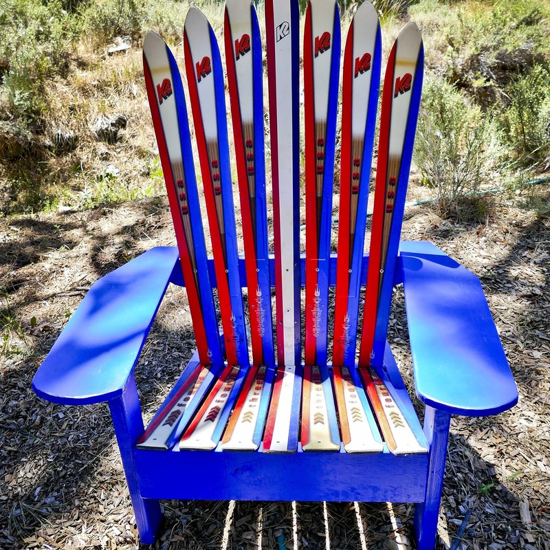 We are K2 fans over here. Check out another awesome ski chair from a terrific  local artist.