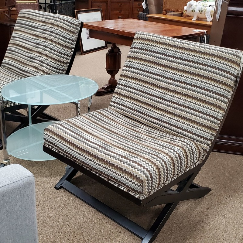 Pair Of Chairs, Stripe,