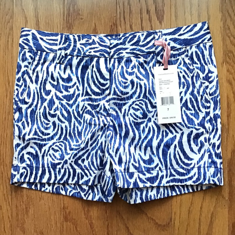 Vineyard Vines Short NEW, Blue, Size: 7<br /> <br /> <br /> NEW WITH $50 TAG<br /> <br /> <br /> <br /> ALL ONLINE SALES ARE FINAL. NO RETURNS OR EXCHANGES.