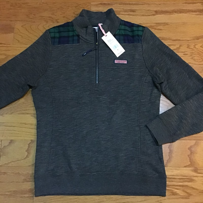 Vineyard Vines Half Zip N, Gray, Size: Small<br /> <br /> <br /> WOMENS SIZE<br /> <br /> <br /> BRAND NEW WITH $98 TAG<br /> <br /> <br /> ALL ONLINE ITEMS ARE FINAL SALE. NO RETURNS OR EXCHANGES.