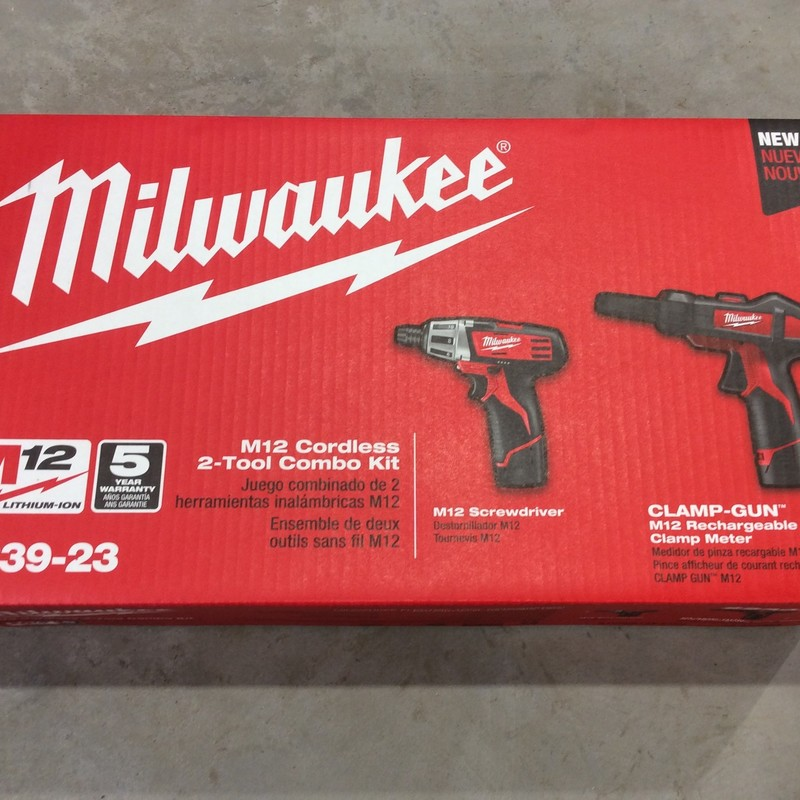 Milwaukee 2239-23 12 Volt Clamp Gun Meter and Screwdriver Combo Kit<br /> <br /> *NEW IN PACKAGE*