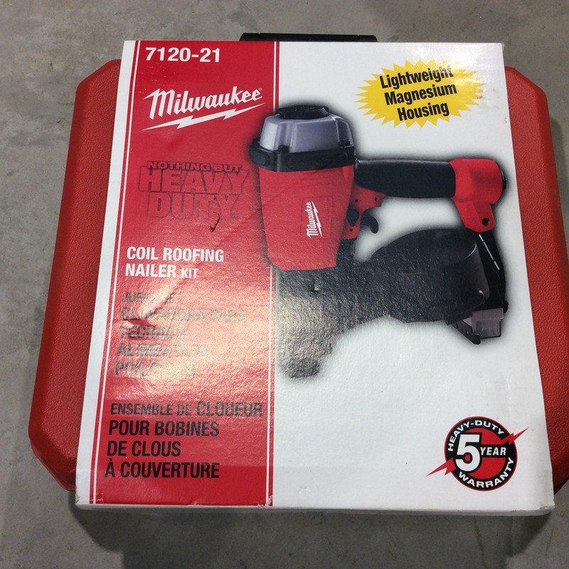 Milwaukee 7120-21 3/4- to 1-3/4-Inch Coil Roofing Nailer