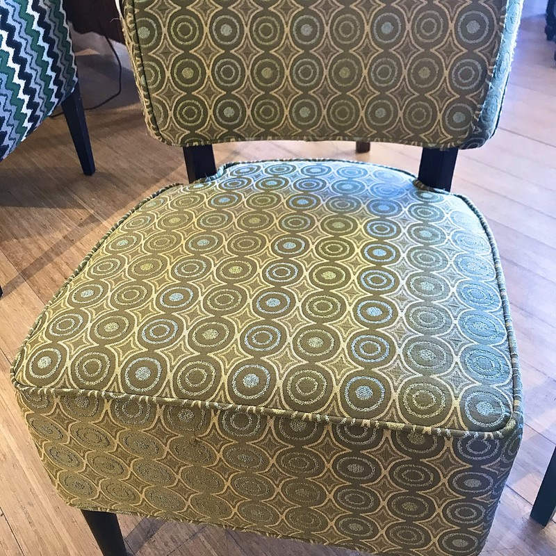 Chair Armless Accent, Green.