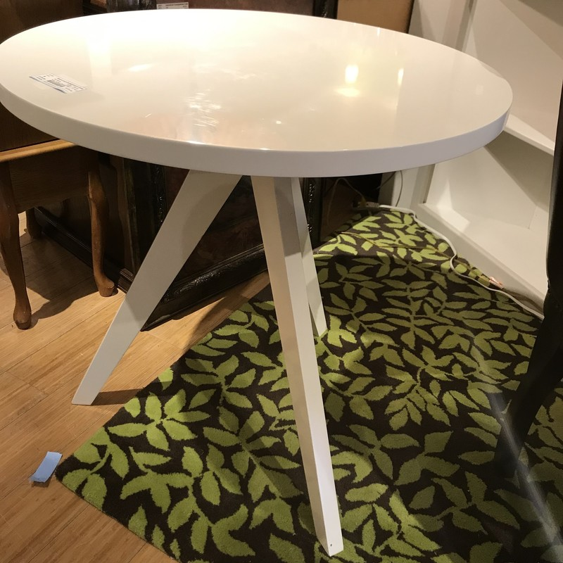 Table Accent Round West Elm. White, Size: 30x30