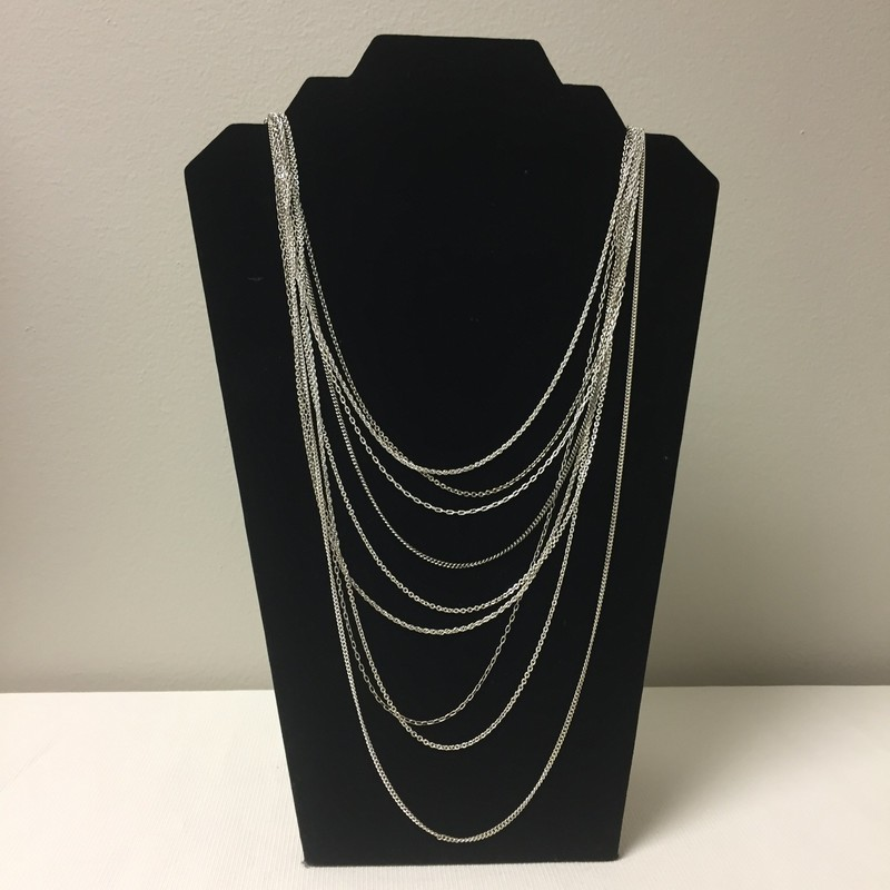 Stella &amp; Dot Necklace<br /> Size 40&quot; Long<br /> Silver<br /> $29.00