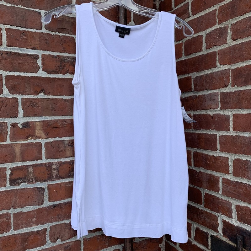 J Jill Cotton Tank, White, Size: Small