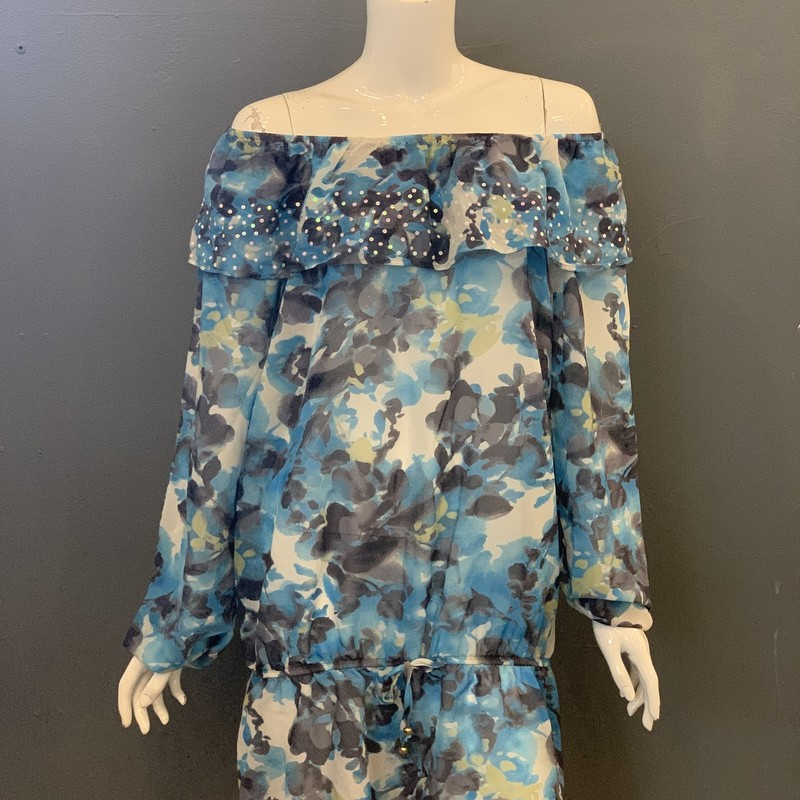StJohn Sheer Coverup NWT, Blu.Gry, Size: S<br /> <br /> 93% Silk. 7% Lycra<br /> <br /> New With Tags