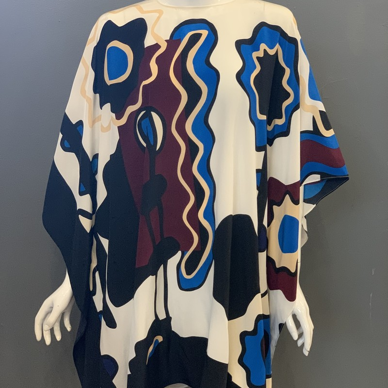 Issa Silk Kaftan NWT, Blu.Pur, Size: S<br /> <br /> 100% Silk<br /> <br /> New With Tags<br /> Garment has a few miniscule stains + fabric imperfections/discoloration