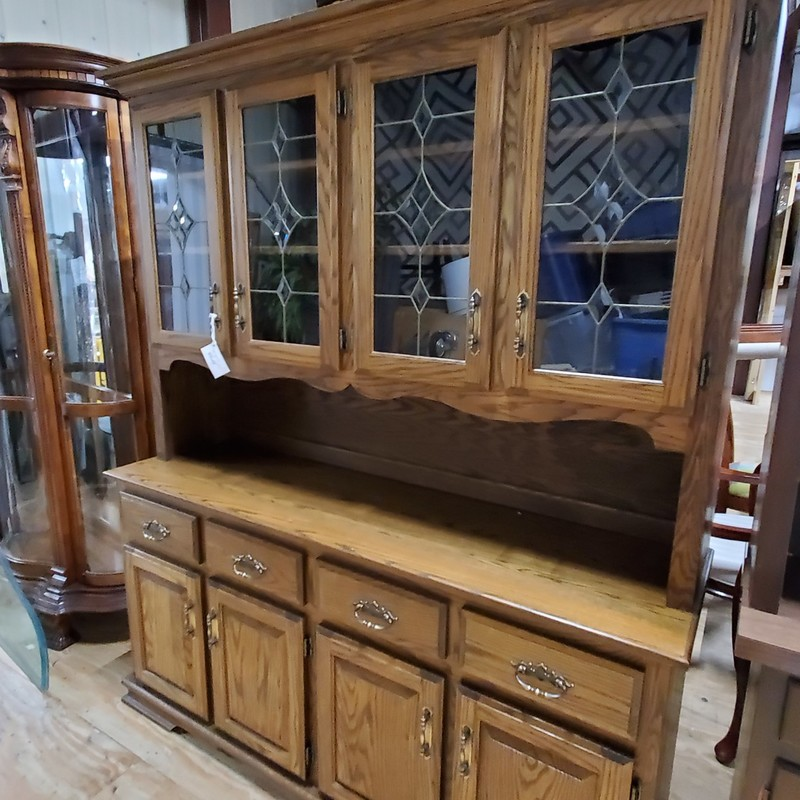 Hutch, Oak, Size: 65x19x78