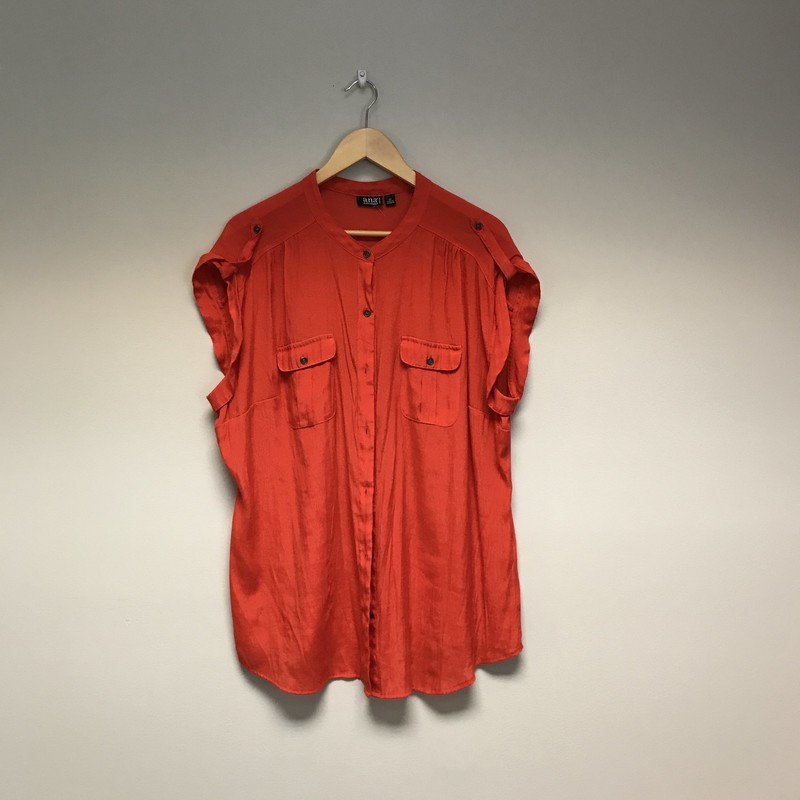 ANA Flowy Blouse<br /> Size 2X<br /> Red<br /> $10.50