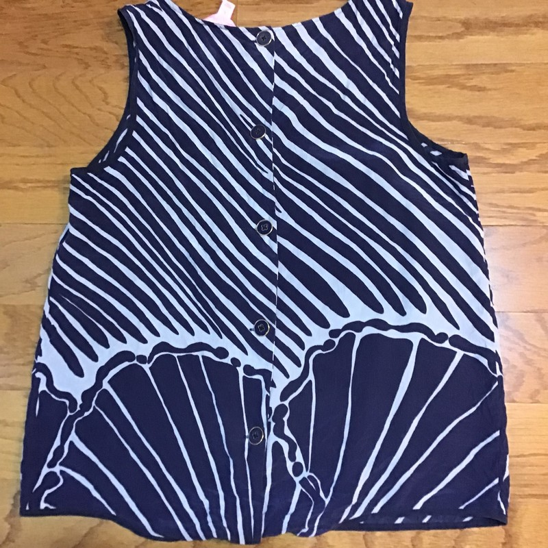 Lilly Pulitzer Silk Top, Navy, Size: Small<br /> <br /> <br /> <br /> WOMENS SIZE<br /> <br /> <br /> ALL ONLINE SALES ARE FINAL. NO RETURNS OR EXCHANGES.