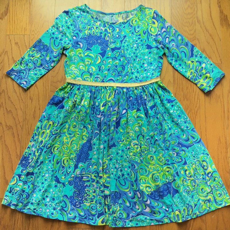 Lilly Pulitzer Dress, Lagoon, Size: 12-14<br /> <br /> <br /> ALL ONLINE SALES ARE FINAL. NO RETURNS OR EXCHANGES.