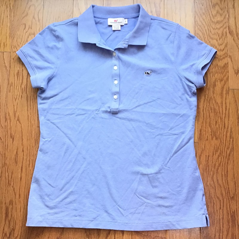 Vineyard Vines Shirt, Blue, Size: Small<br /> <br /> <br /> WOMENS SIZE<br /> <br /> <br /> ALL ONLINE SALES ARE FINAL. NO RETURNS OR EXCHANGES.