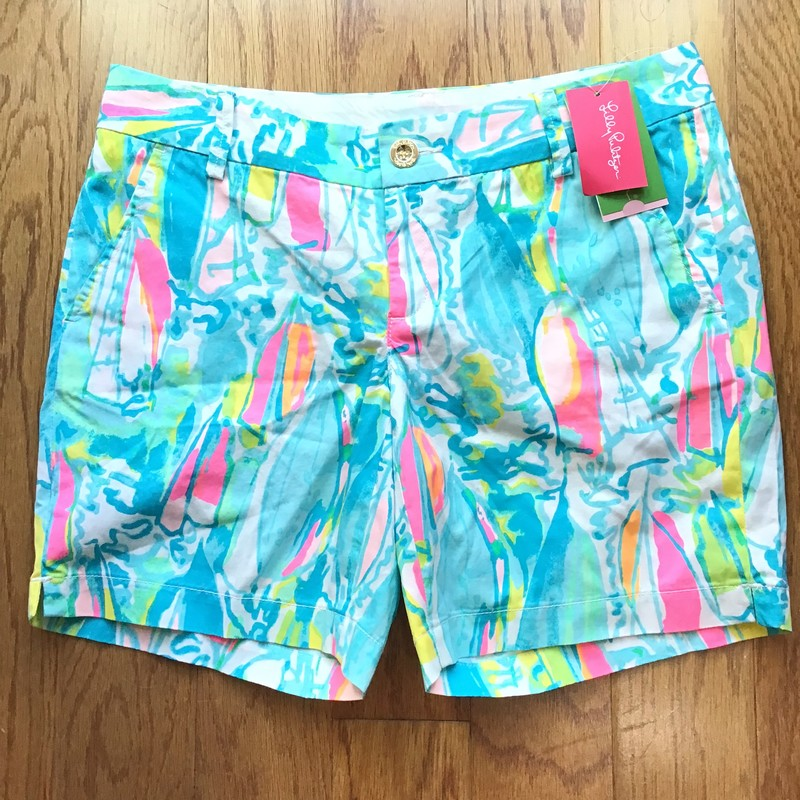 Lilly Pulitzer Short NEW, Blue, Size: 4<br /> <br /> <br /> WOMENS SIZE<br /> <br /> <br /> BRAND NEW WITH $78 TAG<br /> <br /> ALL ONLINE SALES ARE FINAL. NO RETURNS OR EXCHANGES.