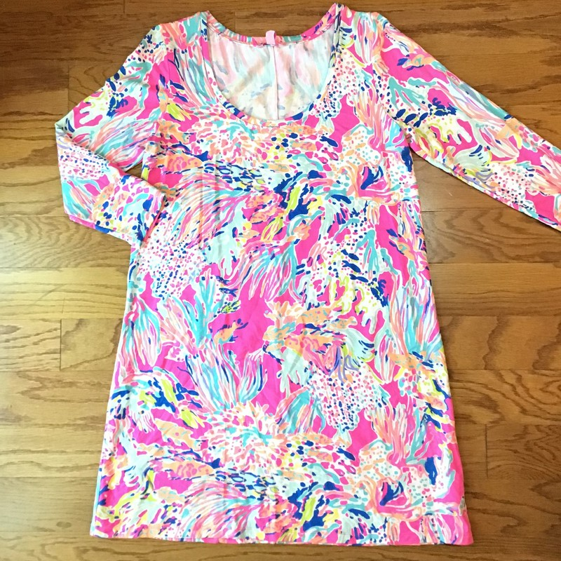 Lilly Pulitzer Dress, Multi, Size: Large<br /> <br /> <br /> WOMENS SIZE<br /> <br /> ALL ONLINE SALES ARE FINAL. NO RETURNS OR EXCHANGES.