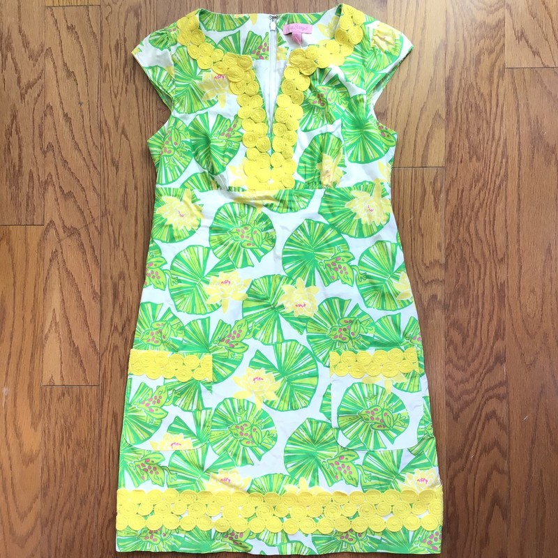Lilly Pulitzer Dress, Green, Size: 0<br /> <br /> WOMENS SIZE<br /> <br /> ALL ONLINE SALES ARE FINAL. NO RETURNS OR EXCHANGES.
