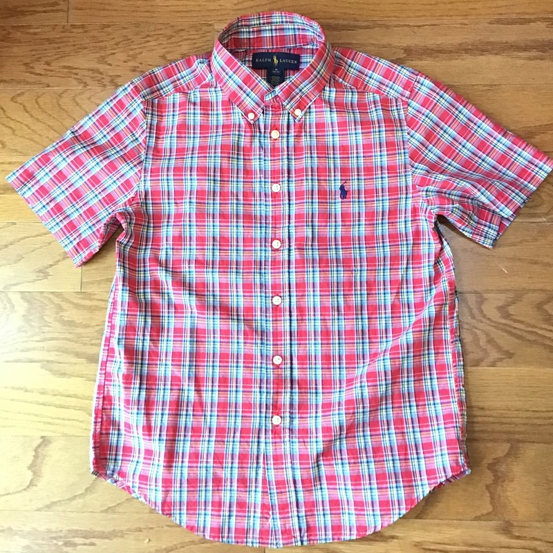 Ralph Lauren Shirt, Red, Size: 10-12<br /> <br /> <br /> <br /> ALL ONLINE SALES ARE FINAL. NO RETURNS OR EXCHANGES.