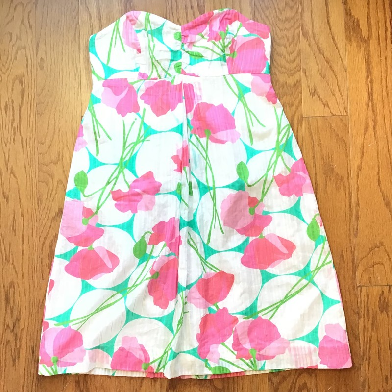 Lilly Pulitzer Dress, White, Size: 2<br /> <br /> <br /> WOMENS SIZE<br /> <br /> <br /> ALL ONLINE SALES ARE FINAL. NO RETURNS OR EXCHANGES.