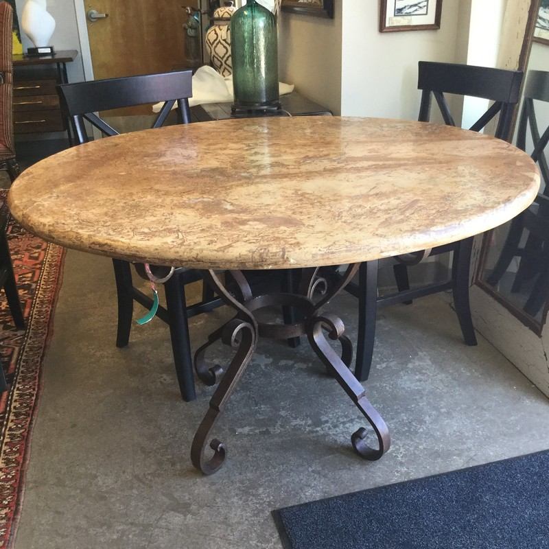 "Stone Top Diniing Table, Aurhaus, Size: 54""x30"""