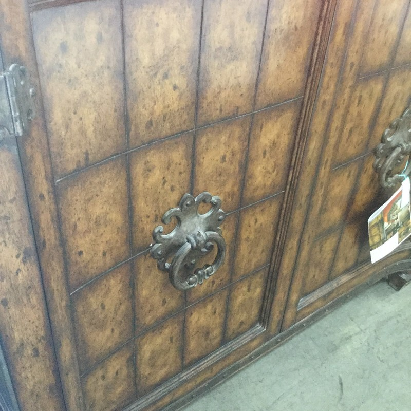 "Large Old World Cabinet, 2 Door, Size: 50""X17""X45"""