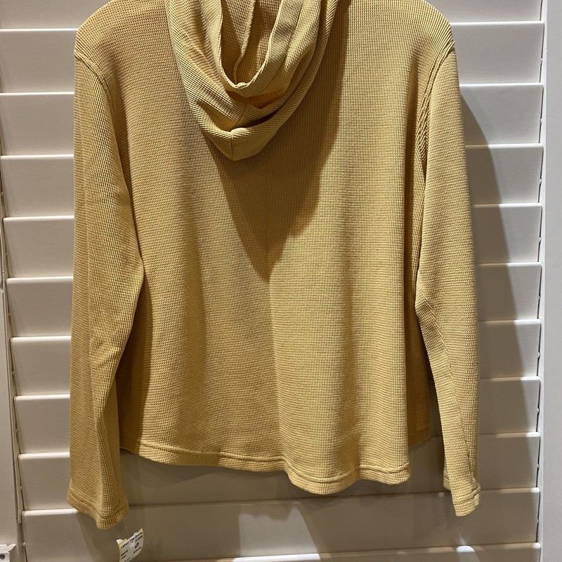 LL Bean Hoodie, Yellow, Size: Medium