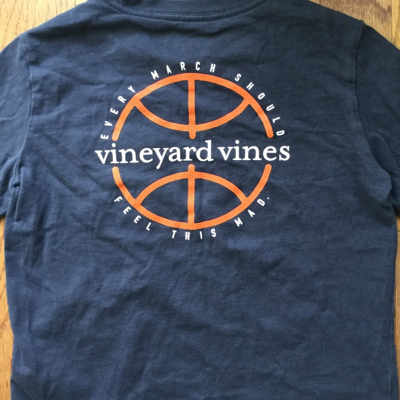 Vineyard Vines Shirt, Blue, Size: 5<br /> <br /> <br /> AS IS DUE TO FADING TYPICAL OF THIS BRAND. RUNS SMALL<br /> <br /> ALL ONLINE SALES ARE FINAL. NO EXCHANGES OR RETURNS.
