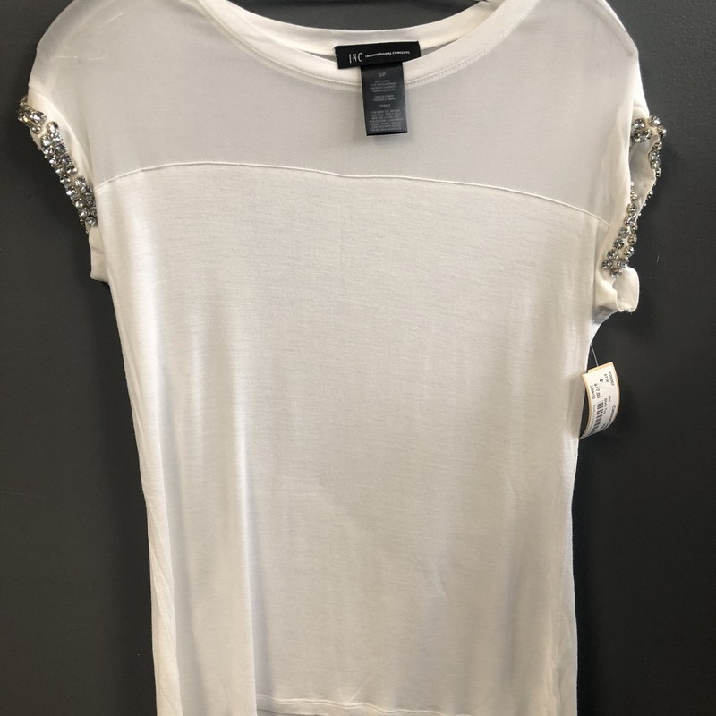 Slvls Top, White, Size: Small