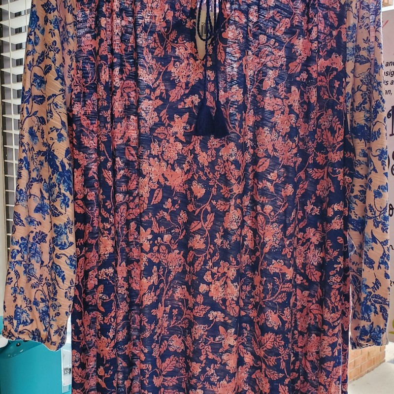 "Lucky Brand NWT, 1X<br /> Peach/blue<br /> Retail $ 59.50 our price $29.99<br /> Approx. 31"" length"