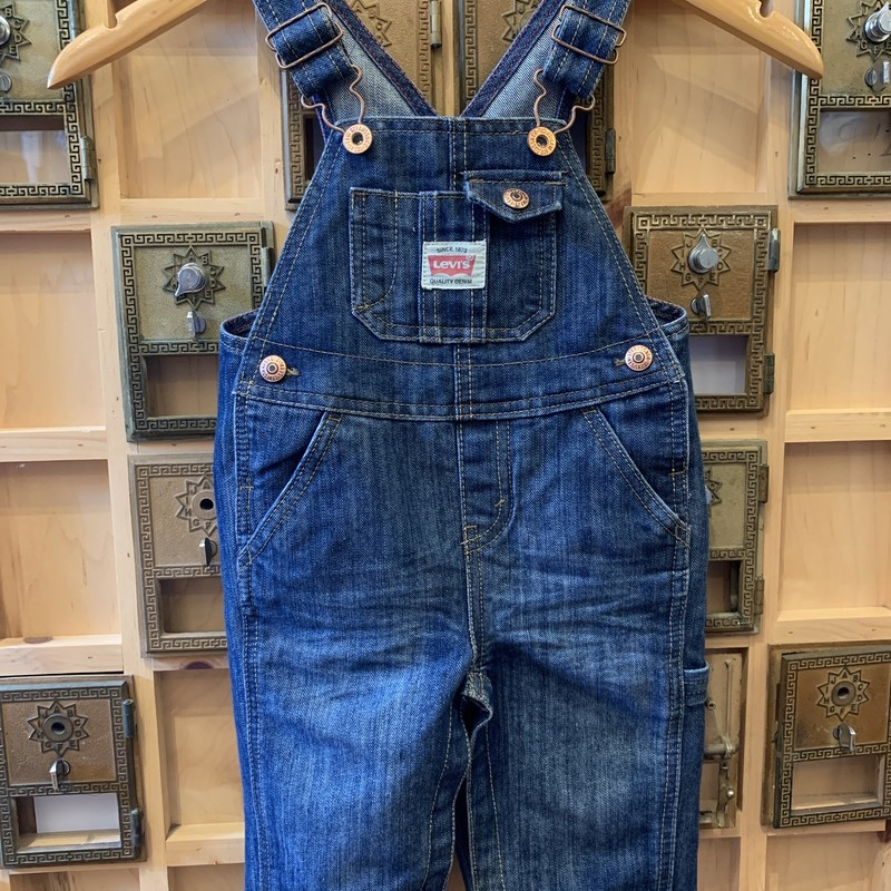 Levi Baby Overalls, D- Blue, Size: 12 M<br /> <br /> The perfect overalls for baby. Denim classics. Snap button bottom for esy access changing. Perfect condition and addition to your super cool kiddo.<br /> <br /> Free domestic shipping/instore pickup