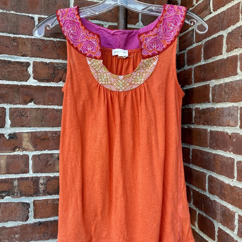 Meadow Rue Tank, Orange, Size: Small
