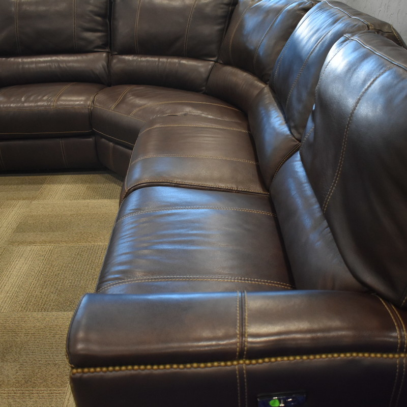 4pc Leather Pwr Sectional