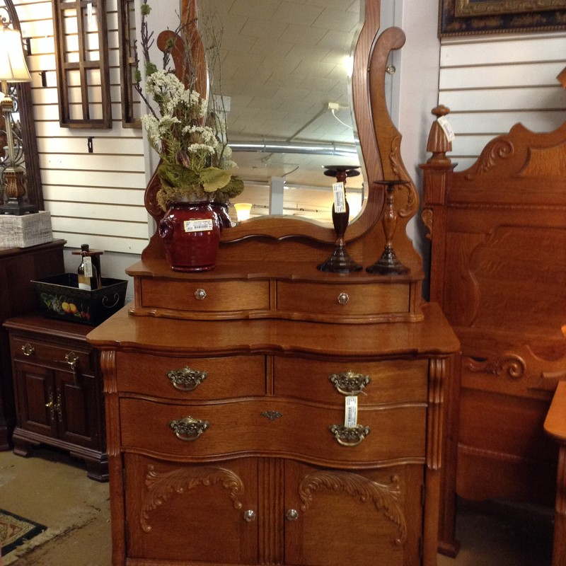 Lexington Dresser/mirror, 81in H (with Mirror) x 34in H (Without Mirror) x 21.5in D x 38in L
