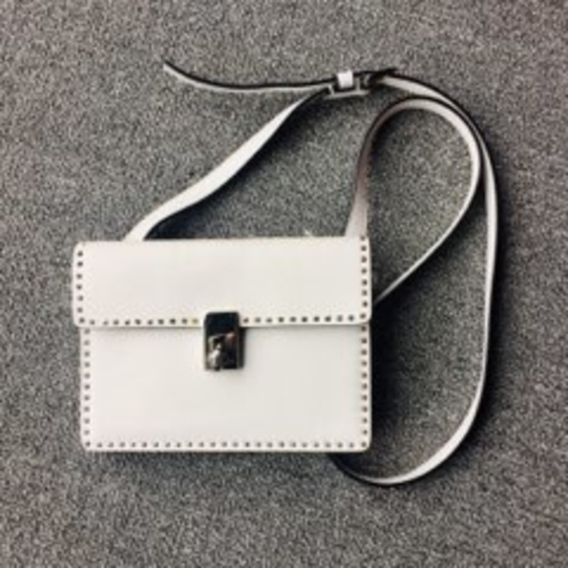 Valentino Rockstud Crossbody<br /> White and Silver Hardware