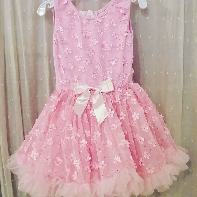 Popatu Dress Pink, Size: 3-4