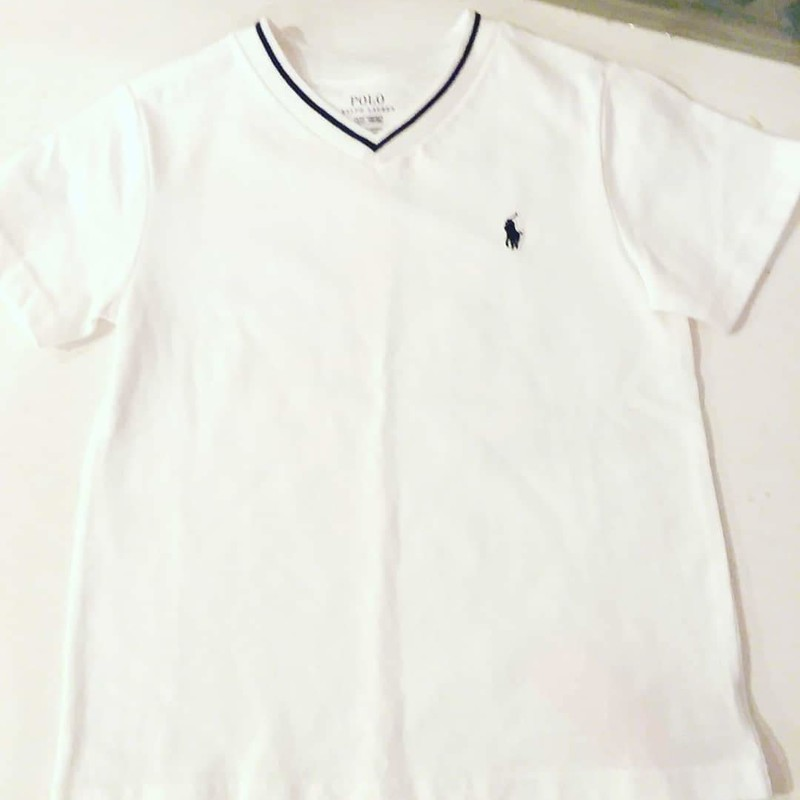 Polo Tee NEW, White Size: 3