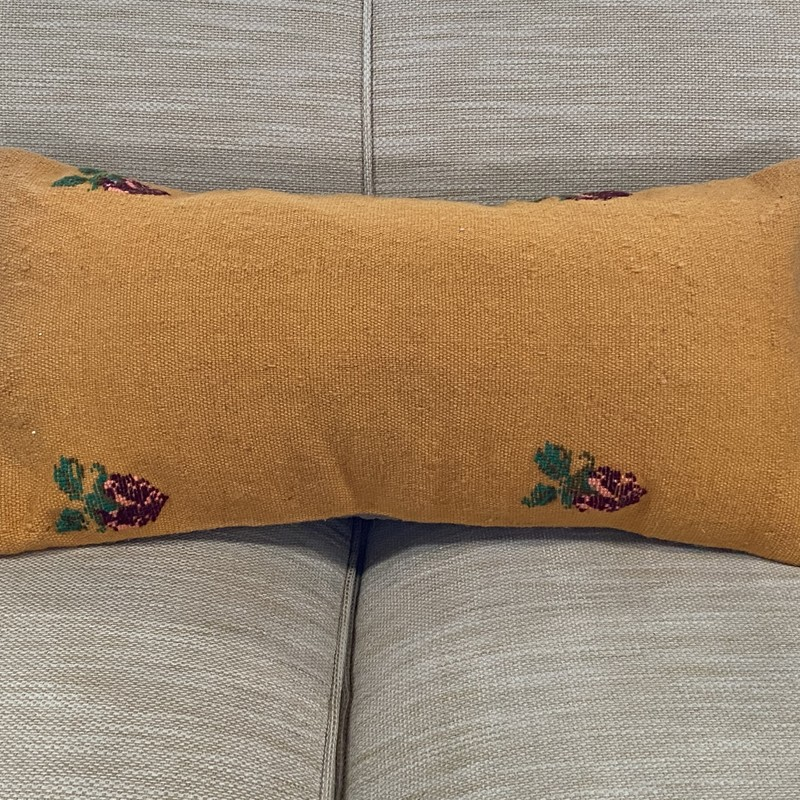 LumbarPillow, Orange/R, Size: 23x12""