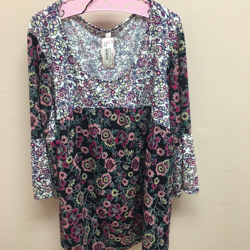 NY Collection Floral Top, Floral, Size: 3X