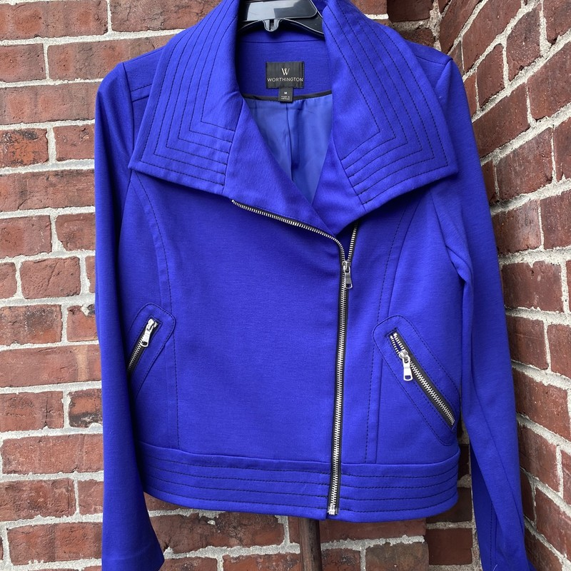 Worthington Moto Jacket, Purple, Size: Medium